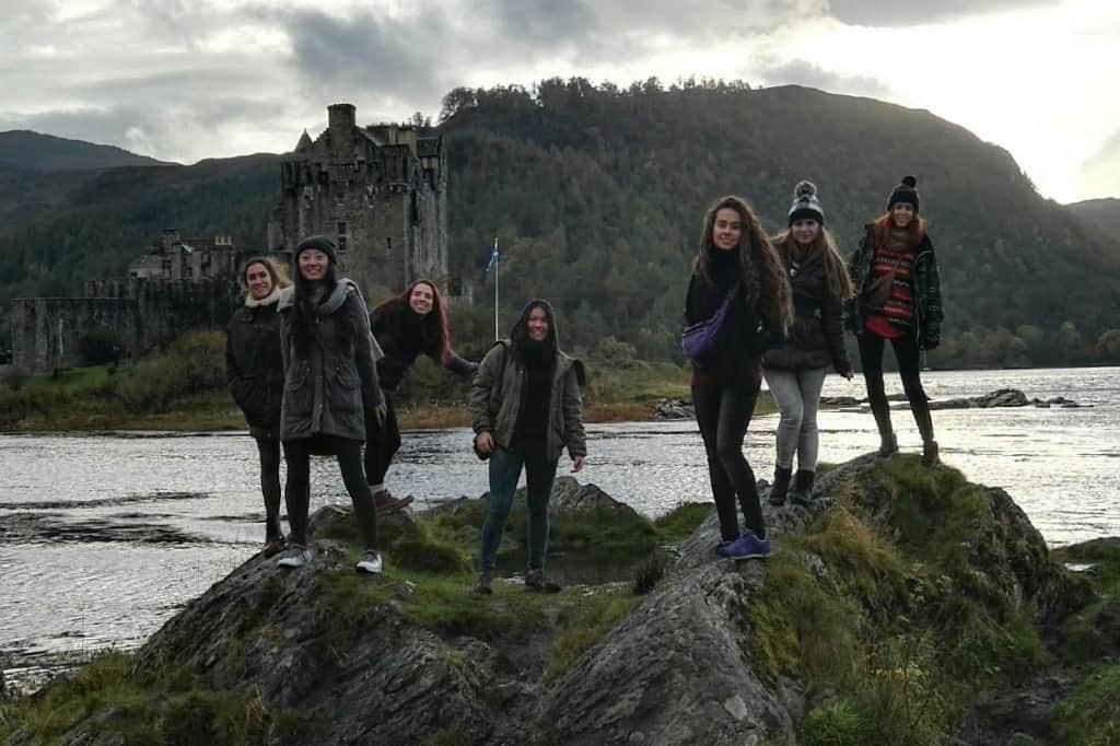 En la isla Skye durante mi intercambio en Escocia @ Foto cedida por Roser Vales - Reino Unido - Estudiar en el extranjero - Blog de Alba Vilanova