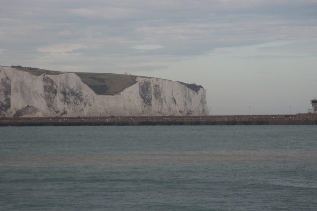 The White Cliffs of Dover from the Disney Magic Transatlantic Cruise