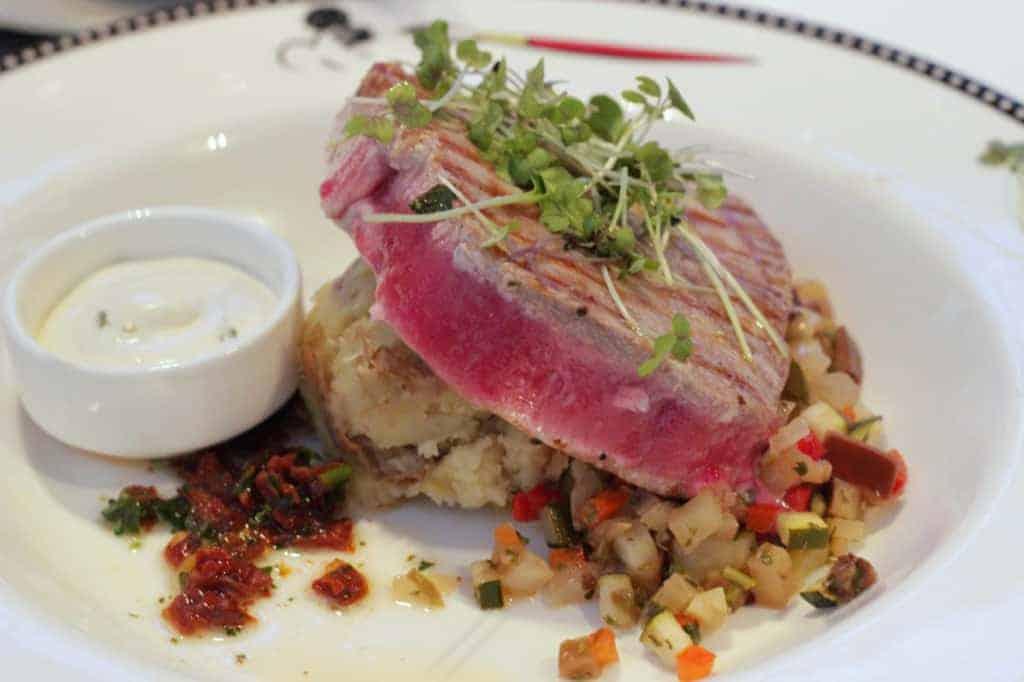Grilled Tuna Steak Animators Palate Disney Magic Transatlantic Cruise