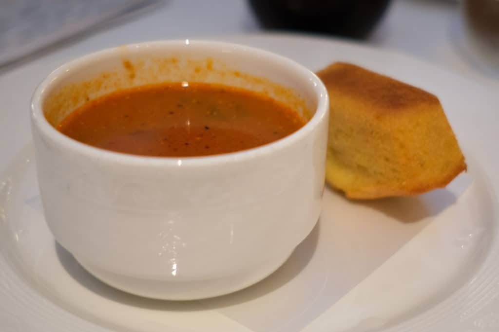 Seafood and Chicken Gumbo at Tritons Disney Wonder Lunch Port of San Juan Wonder to New Orleans