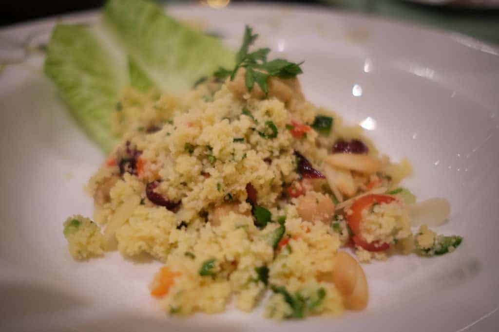 Couscous Salad at Tiana's Place the Disney Wonder