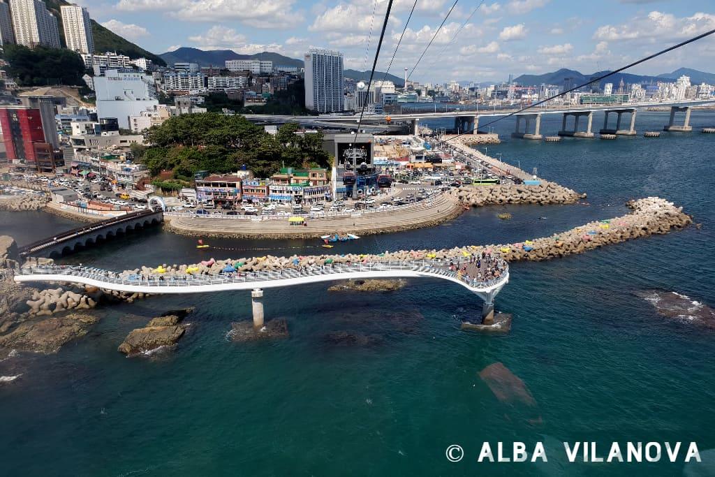 Viaje en teleférico en la playa Songdo de Busan - Corea del Sur - Viajar - Blog de Alba Vilanova