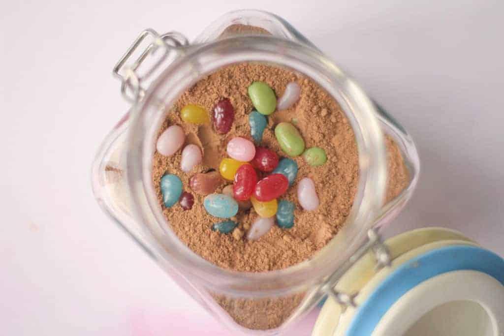 Brownie in a jar homemade gift