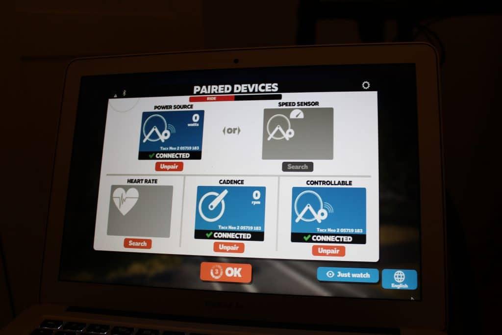 Tacx NEO 2 Smart mit Zwift verbinden.
