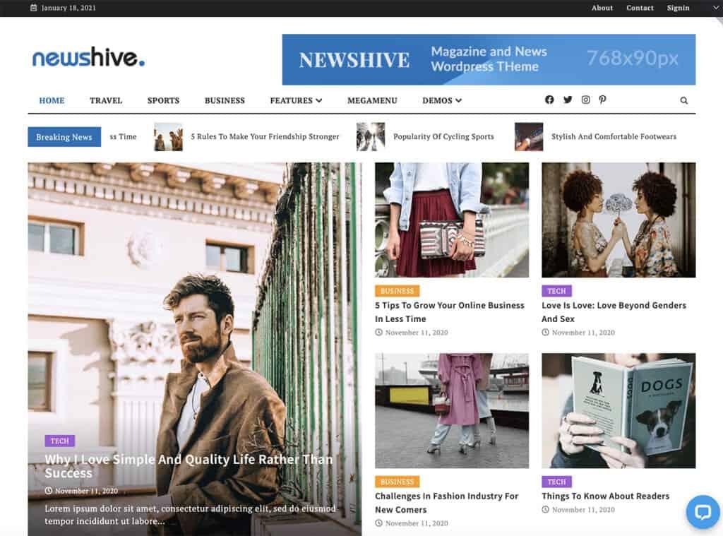 Newshive news theme