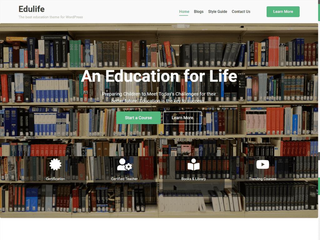 Edulife learndash free theme