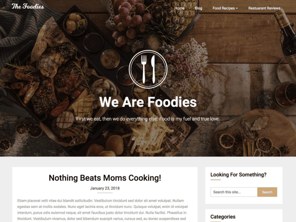 Foodie blog free