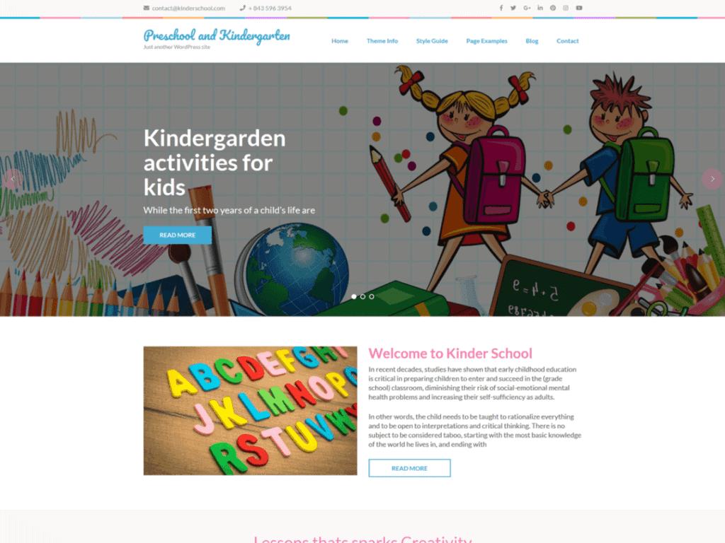 Preschool and Kindergarten free wordpress theme