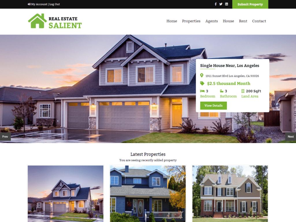 real estate best free WordPress theme