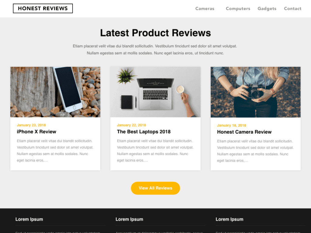 Reviewers Landing Page