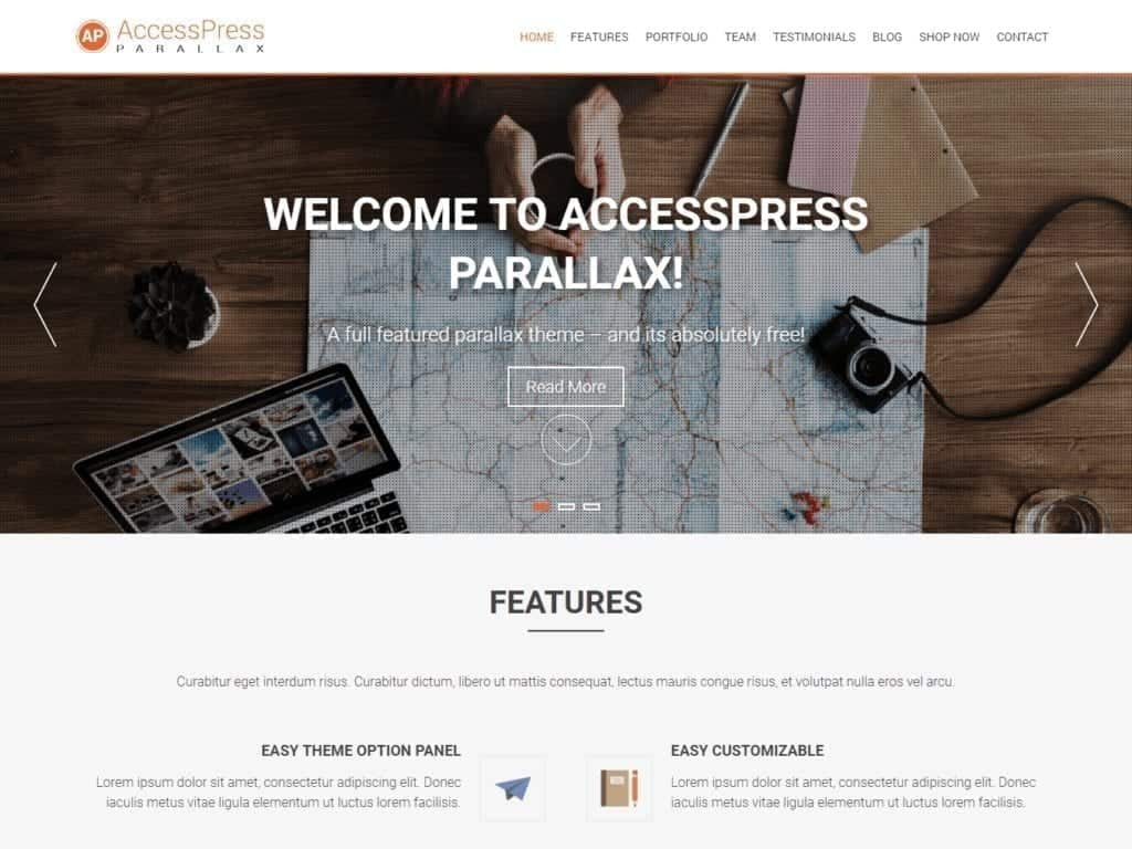 AccessPress Parallax 3.0