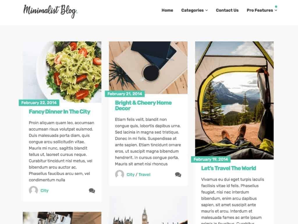 minimalist blog