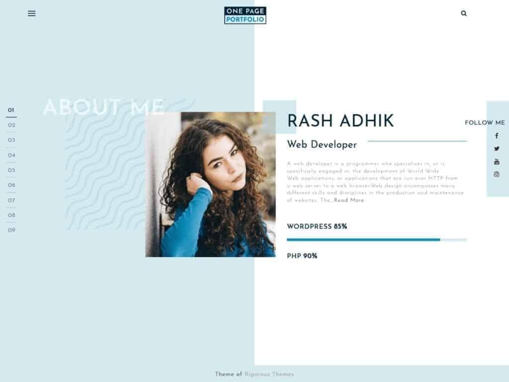 One Page Portfolio