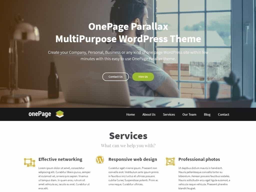 OnePage Parallax