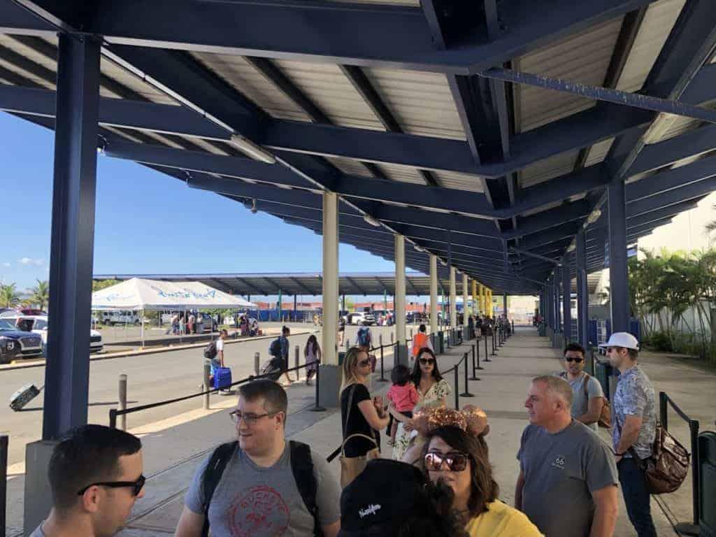Parking Area at the Port of San Juan Disney Wonder to New Orleans