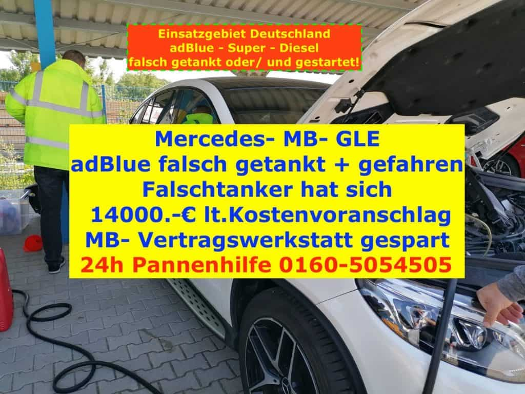 MB-Mercedes-GLE-adblue-diesel-falsch-getankt