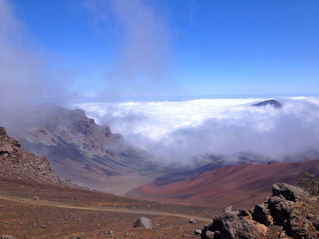 Sliding Sands Trail zum Haleakala-Krater, Maui Hawaii