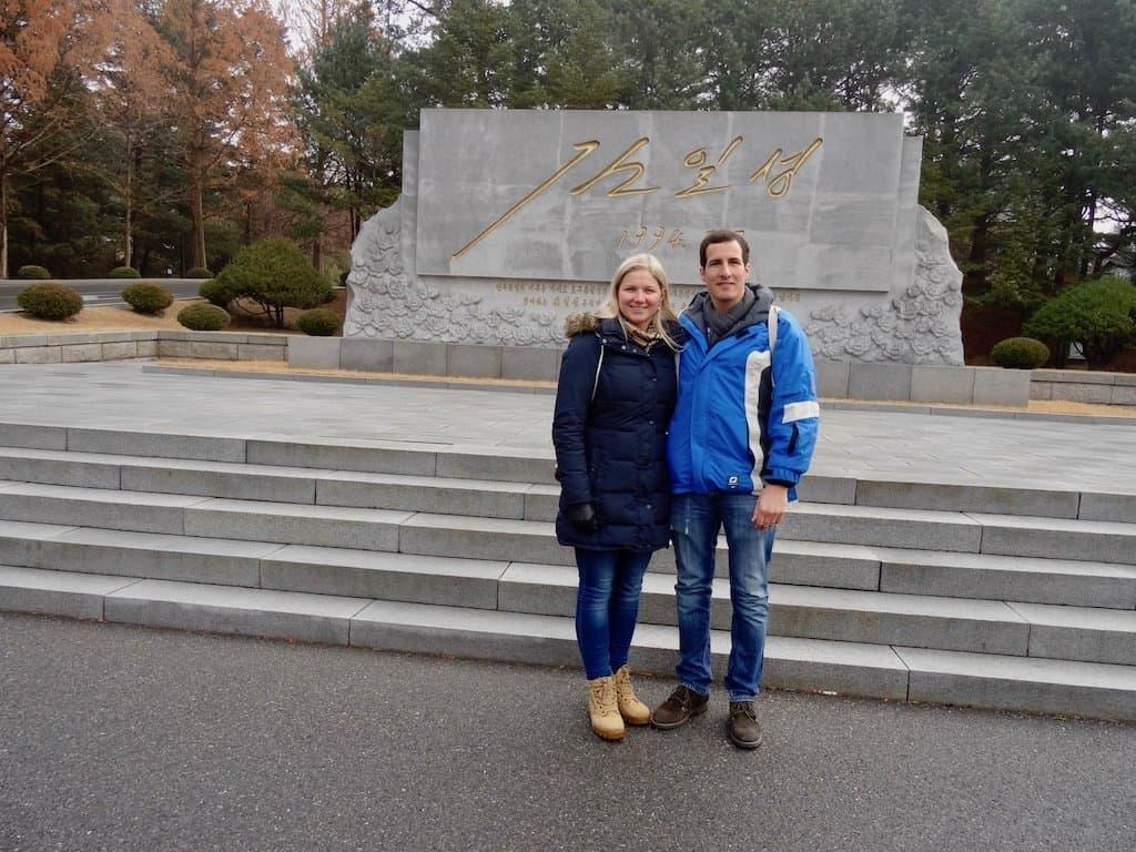 Nach Nordkorea reisen: Noch ein Denkmal