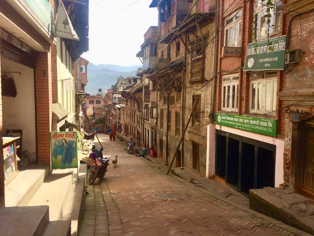 Strasse in Bhaktapur