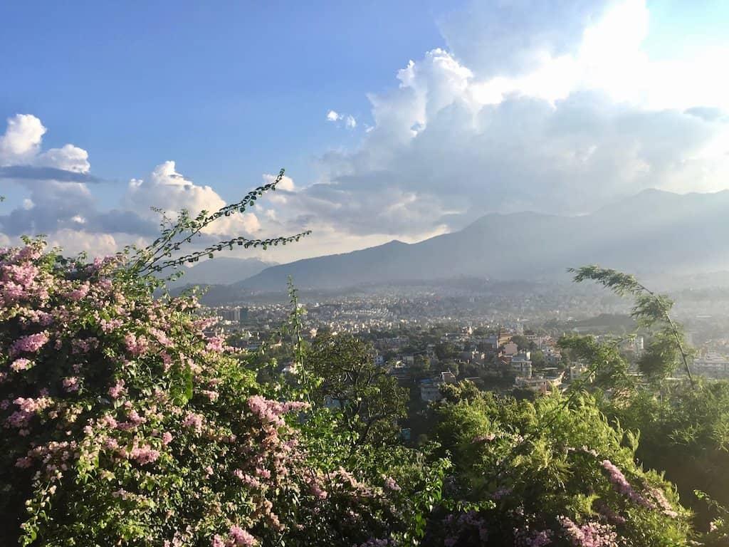 Kathmandu Sehenswürdigkeiten: Blick von Swayambhunath