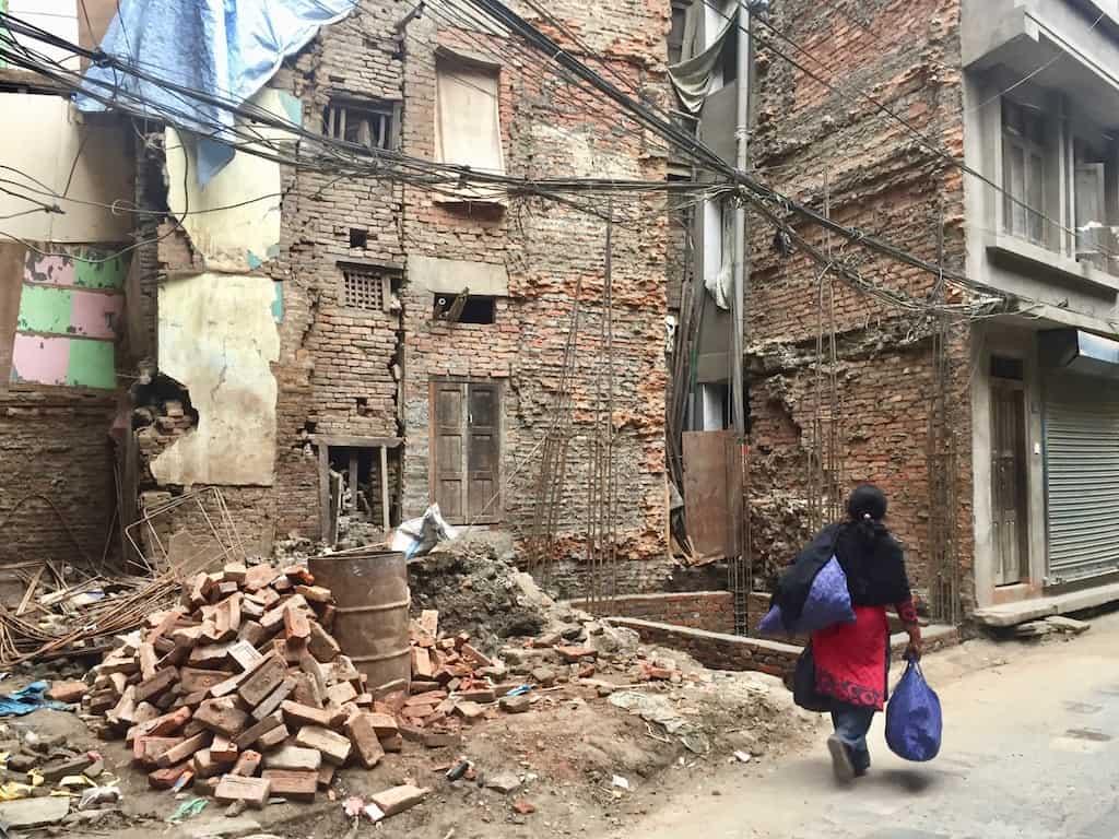 Erdbebenschäden in Kathmandu