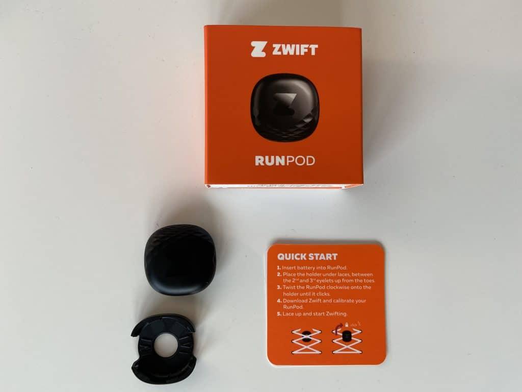 Zwift Runpod mit Karton und Anleitung
