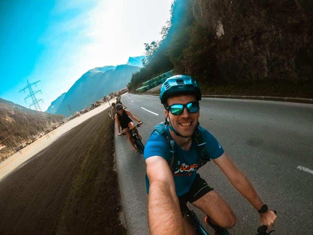 Nathan VaporKrar 2 beim Mountainbiking