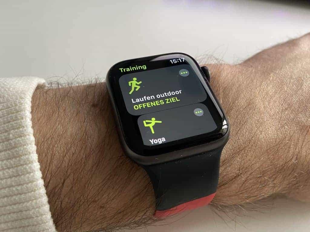 Apple Watch Series 6 - Sportart wählen