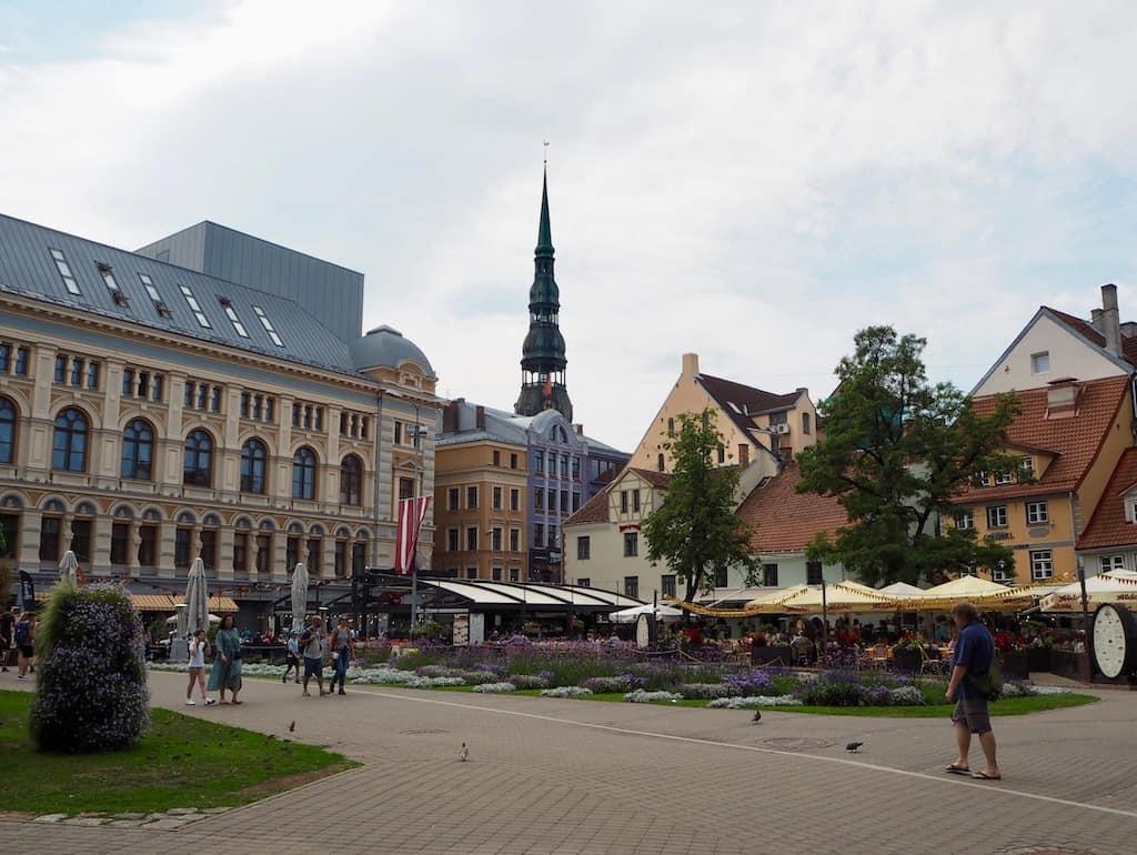Die gepflegte Altstadt in Lettlands Hauptstadt