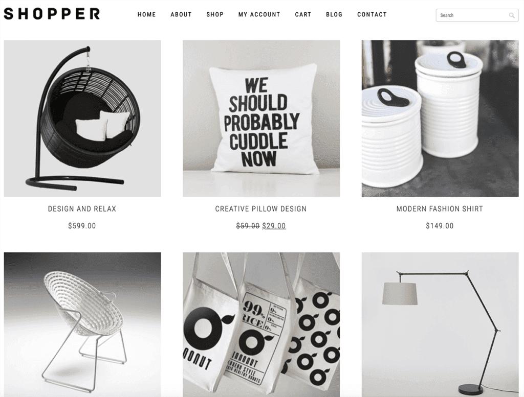 shopper woocommerce theme