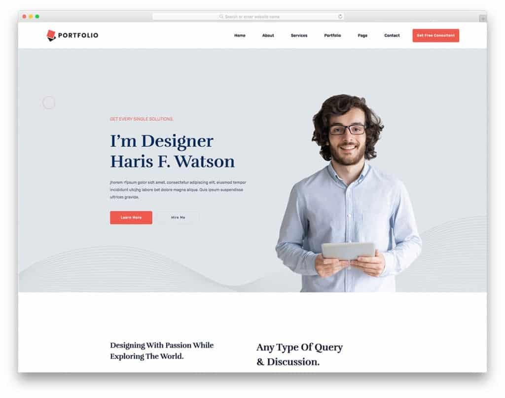 personal portfolio template free