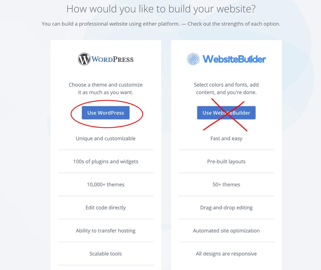 Bluehost WordPress Install 1-click install
