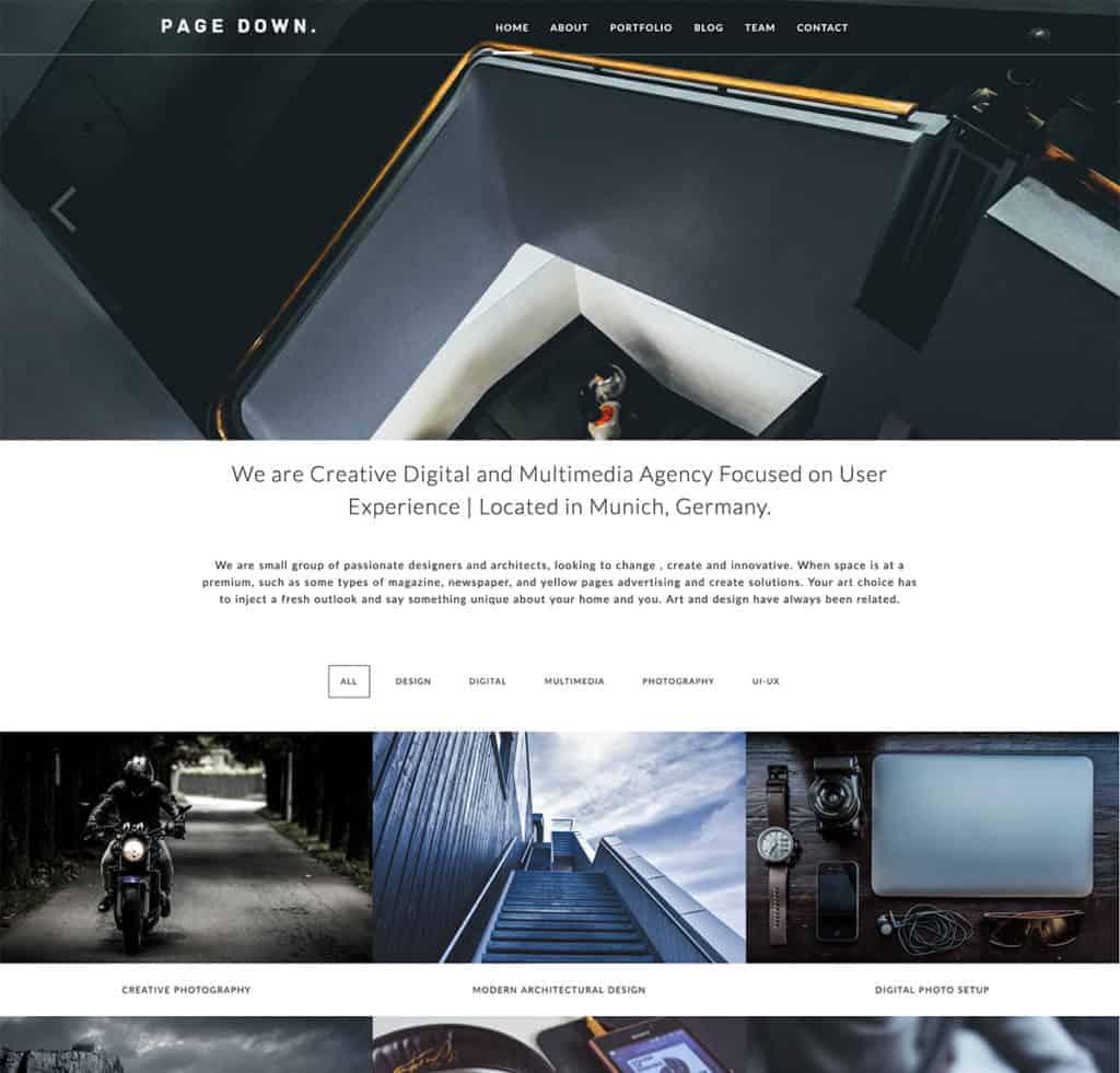 page-down-wordpress-theme