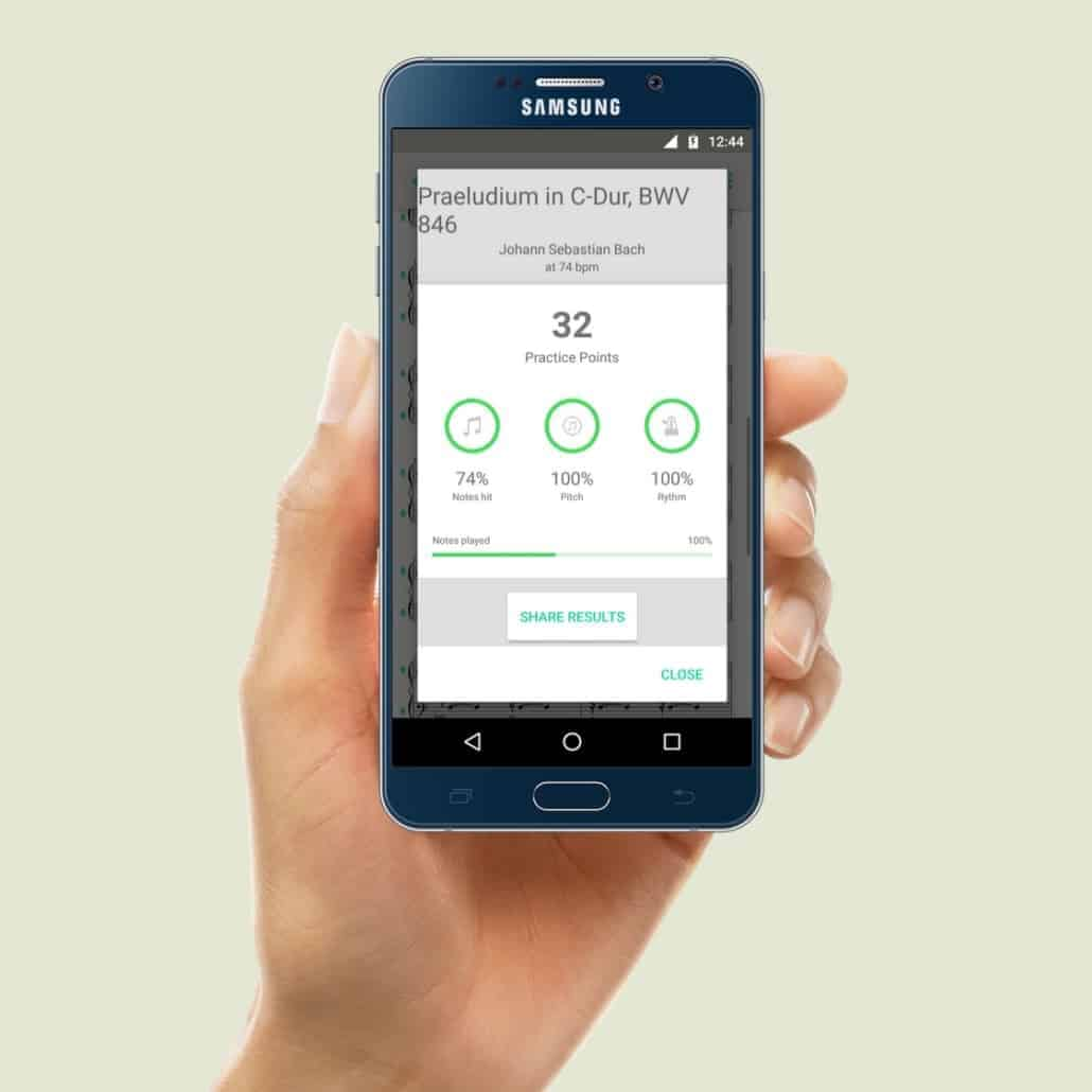 PhonicScore Android App Instant Pitch Monitoring Result Practice Points