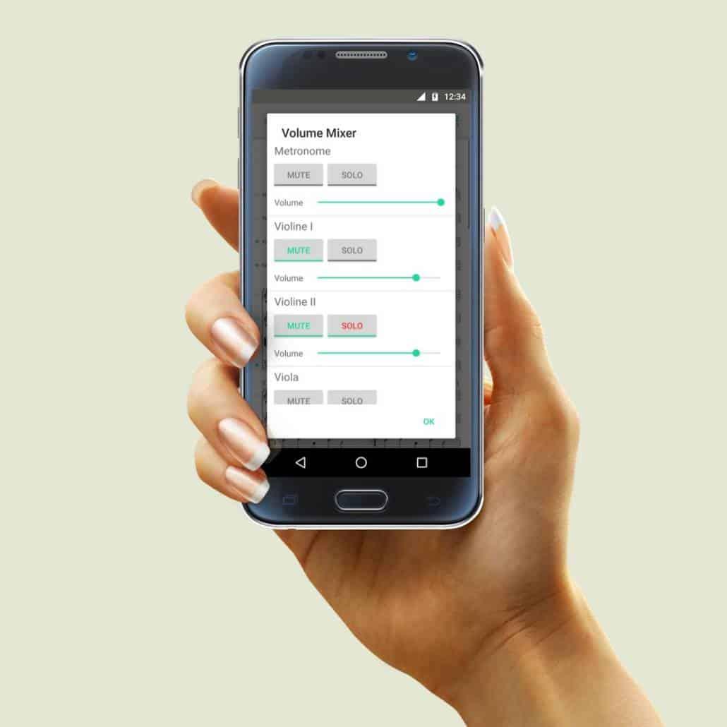 PhonicScore Android App Volume Mixer