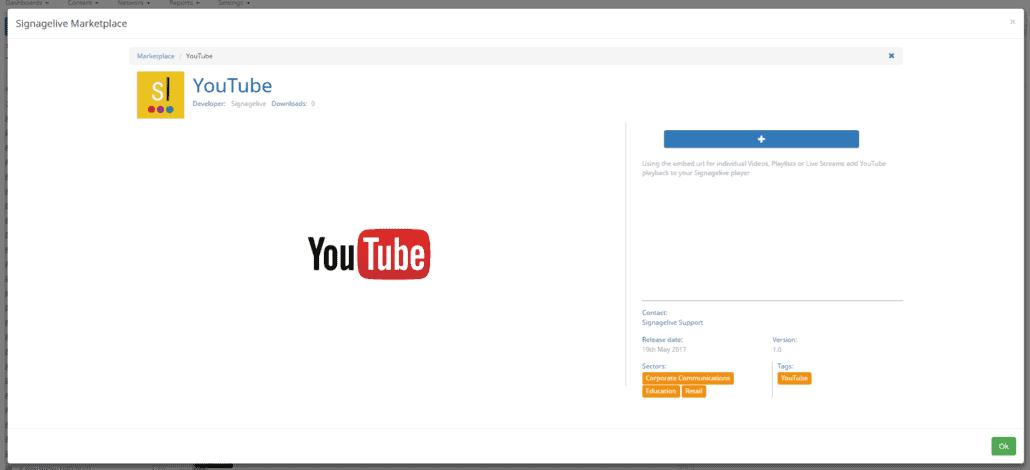 YouTube Marketplace Details