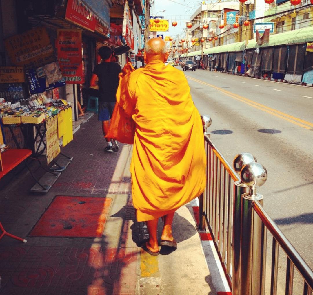 Buddhistischer Mönch in Bangkok