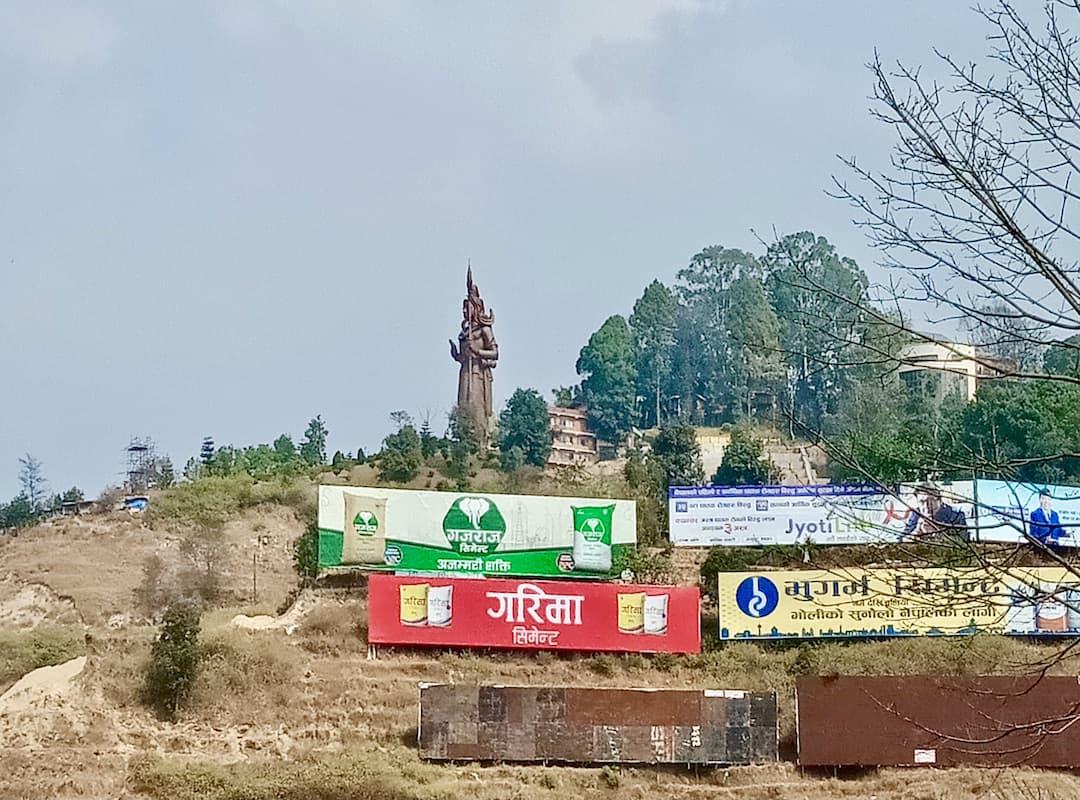 Shiva Statue in Sanga Nepal