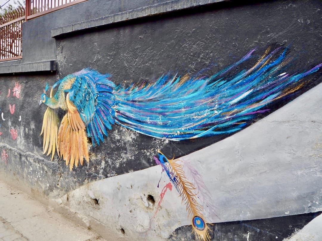 Streetart in Kathmandu: Wall of Hope Lalitpur