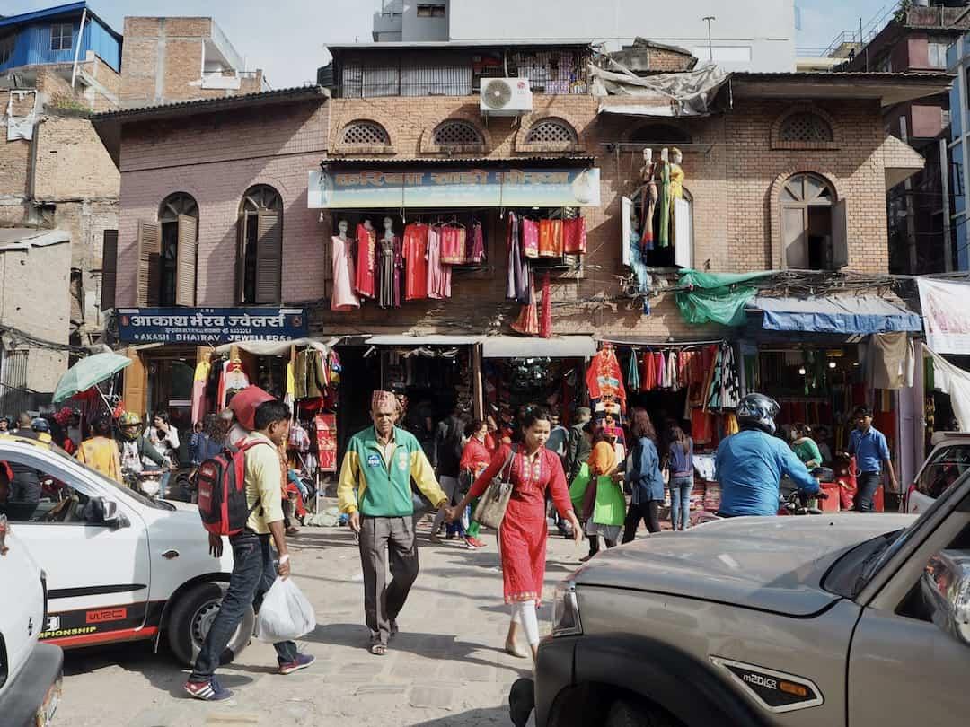 Volle Straßen in Kathmandu