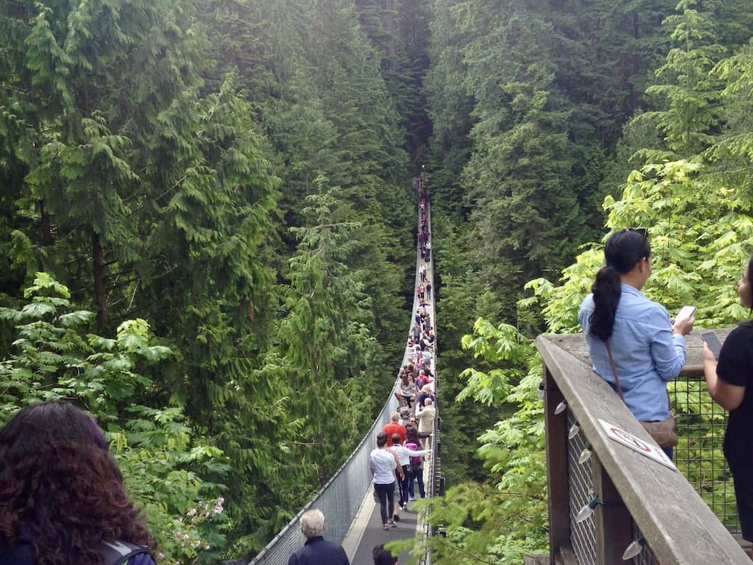 Vancouver Sehenswürdigkeiten: Capilano Suspension Bridge