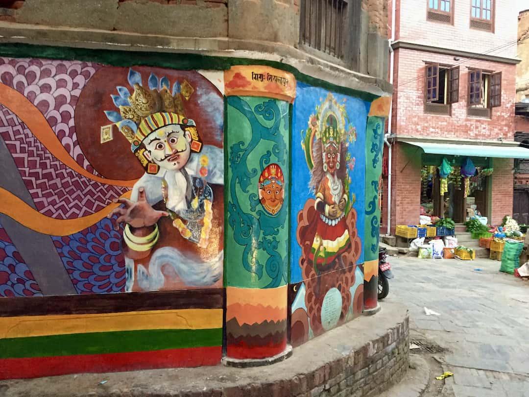 Streetart in Dhulikhel Nepal