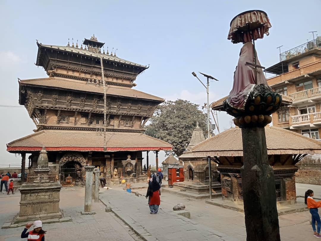Der Bagh-Bhairab-Tempel in Kirtipur