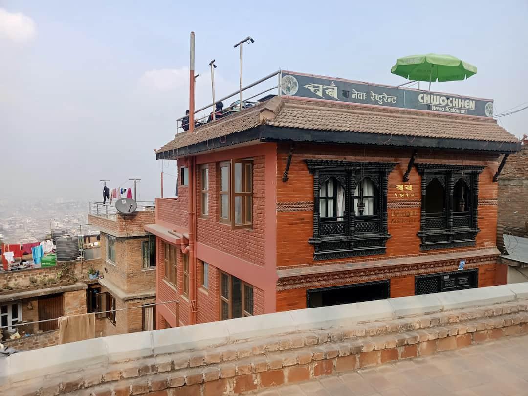 Dachterrasse in der Altstadt von Kirtipur