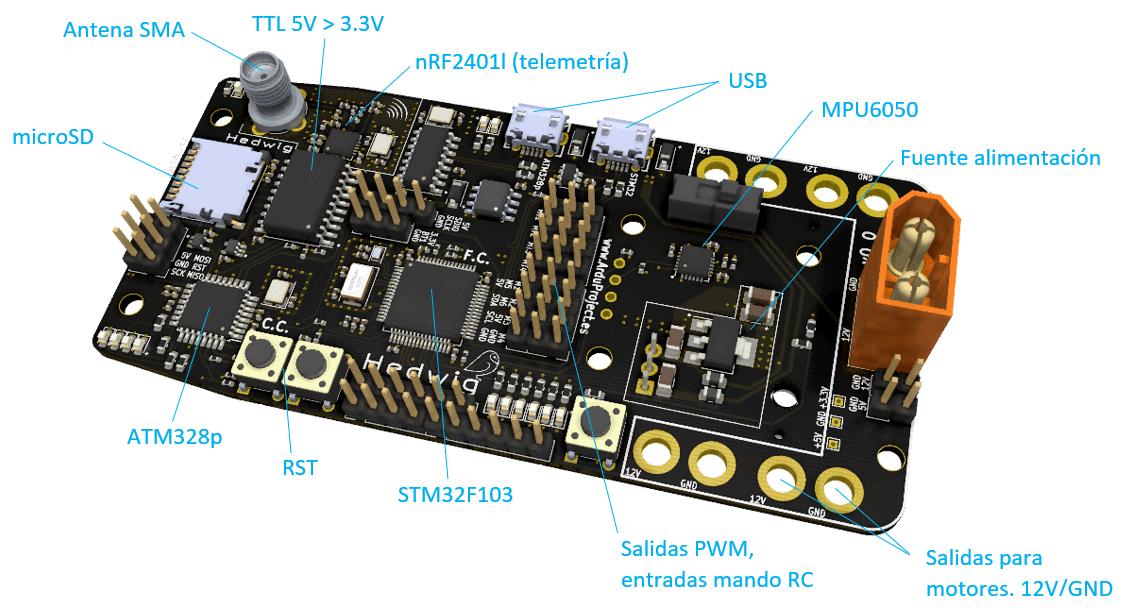 Curso diseño PCB   Controlador de vuelo con Arduino   Componentes del PCB