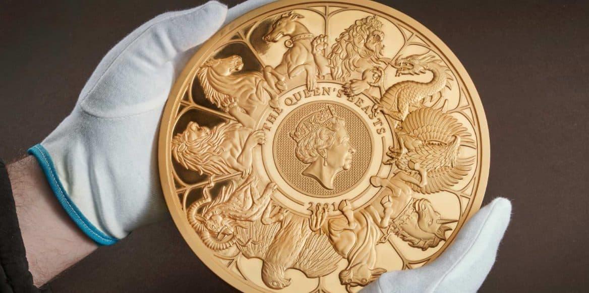 Goldmünze, 10 Kilo, The Queen's Beasts, Royal Mint