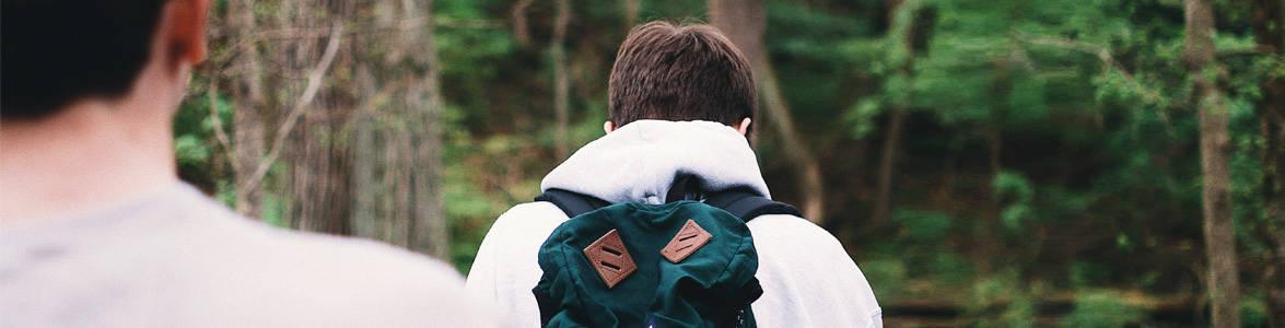 Teens going on a backpacking trek