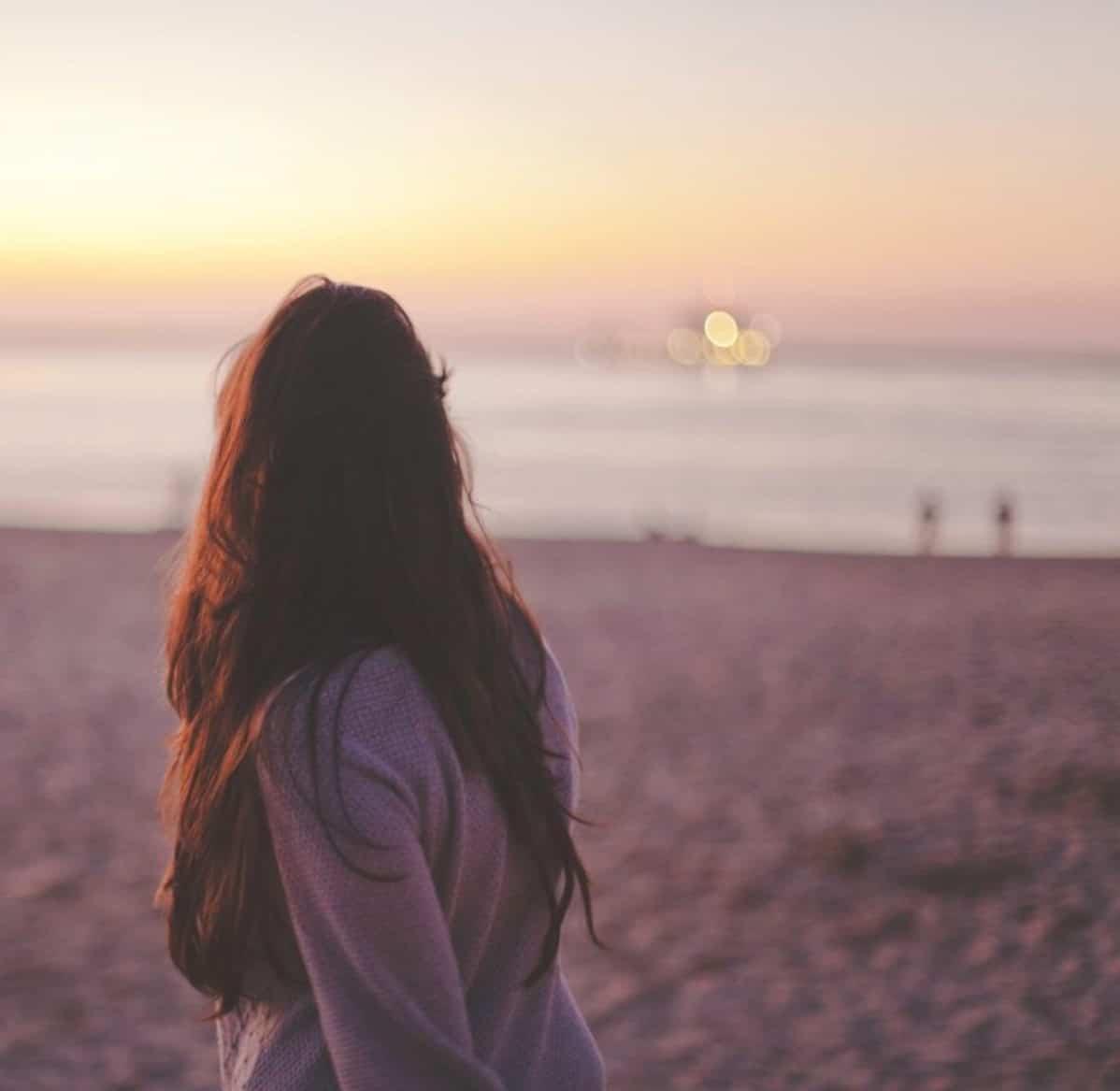ten girl on beach