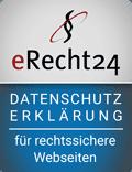 eRecht 24 - Datenschutzerklärung für rechtssichere Webseiten
