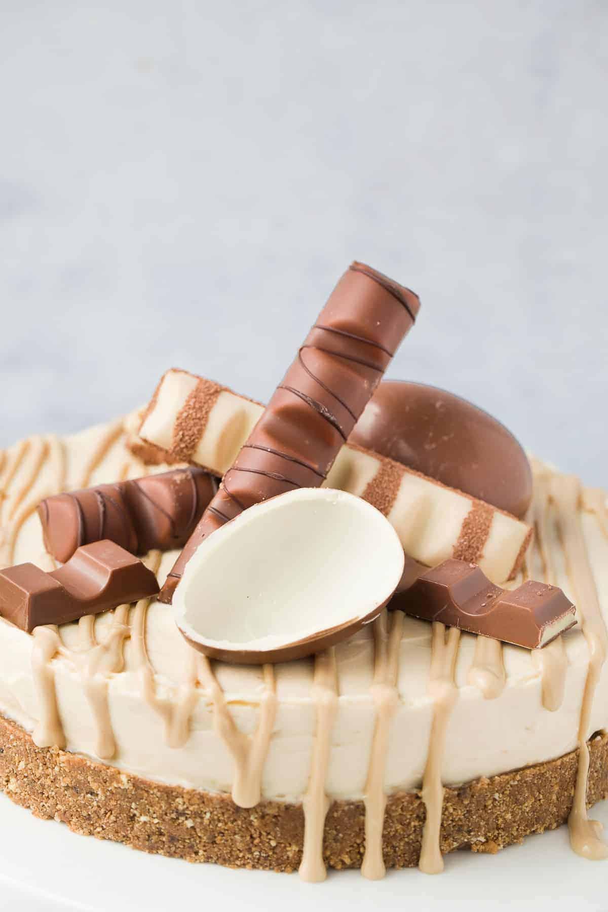A no-bake Kinder Cheesecake.